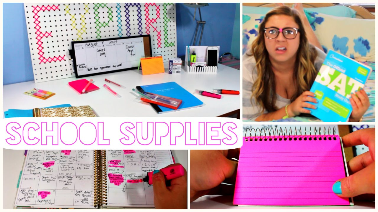 back to school 2014 organization and study tips youtube