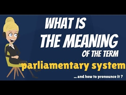 What is PARLIAMENTARY SYSTEM? What does PARLIAMENTARY SYSTEM mean?