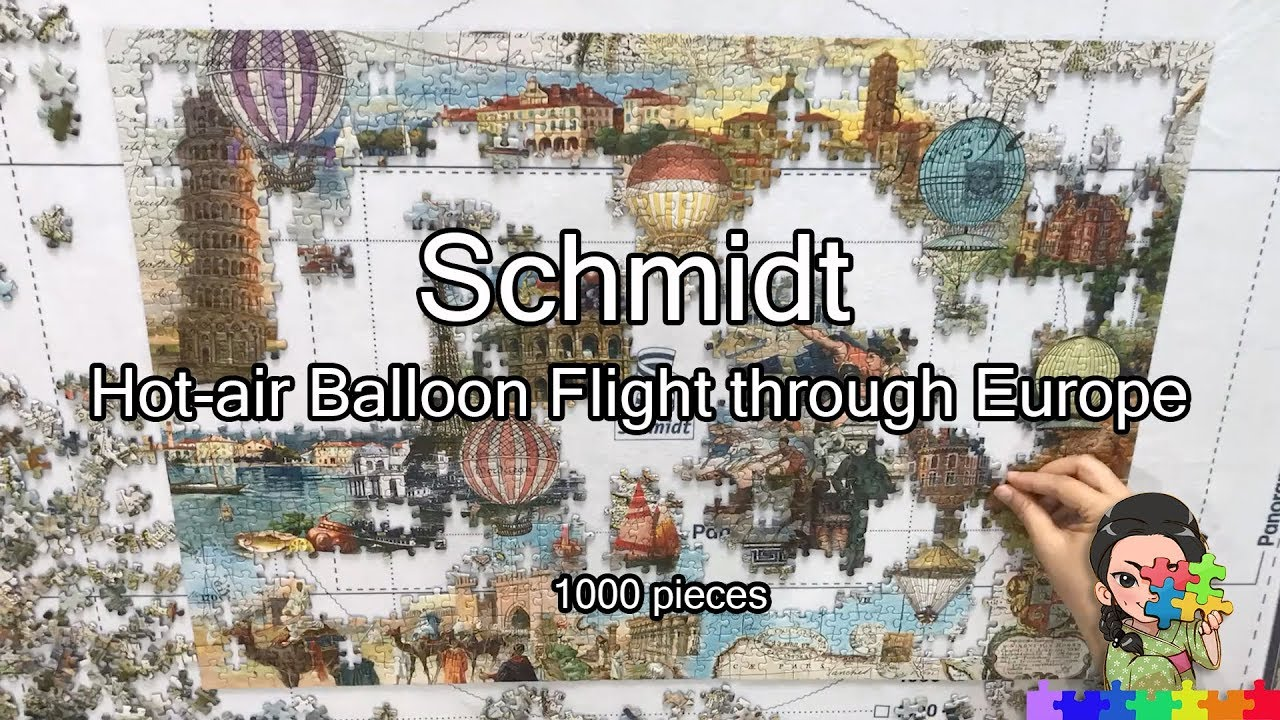 3 schmidt puzzle 1000 pieces hot air balloon flight through schmidt puzzle 1000 pieces hot air balloon flight through europe jigsaw timelapse gumiabroncs Image collections