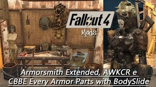 Скачать Fallout 4 Mods 3 Armorsmith Extended AWKCR E CBBE Every Armor Parts With BodySlide PT Brasil