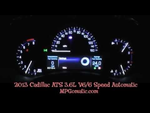 2013 Cadillac ATS 3.6 V6 0-60 MPH - YouTube