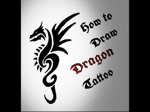 How To Draw Tribal Dragon Tattoo Drawing Easy Dragon Tattoo Design
