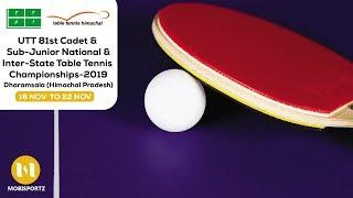 UTT 81TH Cadet & Sub Jr National & Inter State Table Tennis Championships-2019 (HIMACHAL PRADESH)