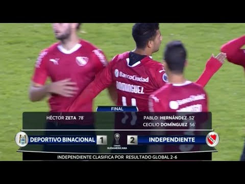 Independiente venció 2 a 1 a Deportivo Binacional y avanza en la Sudamericana