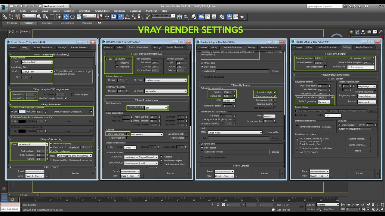 Vray Tutorial Render Setup For 3ds Max Youtube Vray Tutorial Render Setup For 3ds Max Youtube