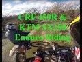 Honda CRF 450R & KTM SX250 Enduro Riding