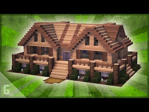 Deluxe Minecraft Wooden Cabin Tutorial 20 Youtube