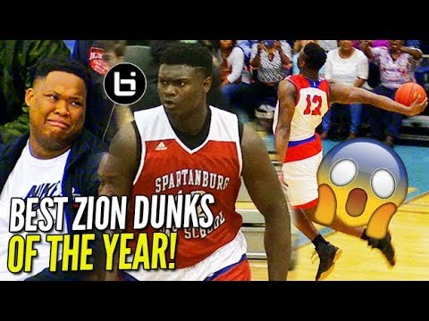 Zion Williamson IS UNREAL! TOP DUNKS OF SENIOR YEAR! WINDMILLS, 360s, BETWEEN THE LEGS! NOT Human!