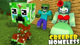 Monster School : Baby Creeper was Homeless - Minecraft Animation