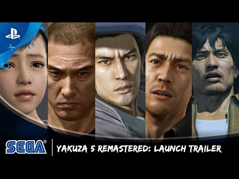 Ремастер Yakuza 5 вышел на PlayStation 4