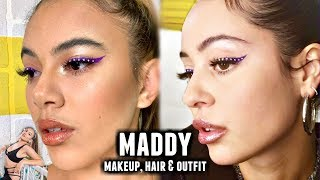 THE MOST ICONIC MADDY EUPHORIA MAKEUP,  HAIR AND OUTFIT TRANSFORMATION | Adelaine Morin