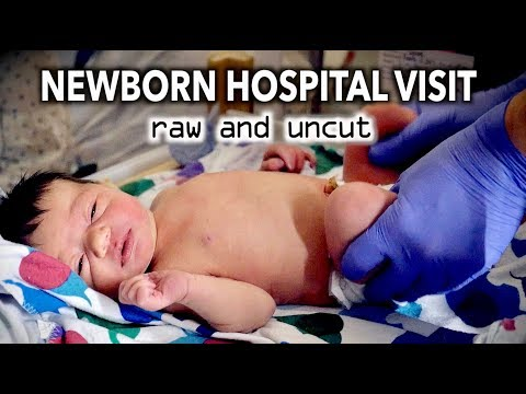 ADORABLE NEWBORN HOSPITAL VISIT (raw & uncut)   Dr. Paul