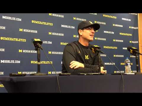 Michigan coach Jim Harbaugh after loss to Ohio State