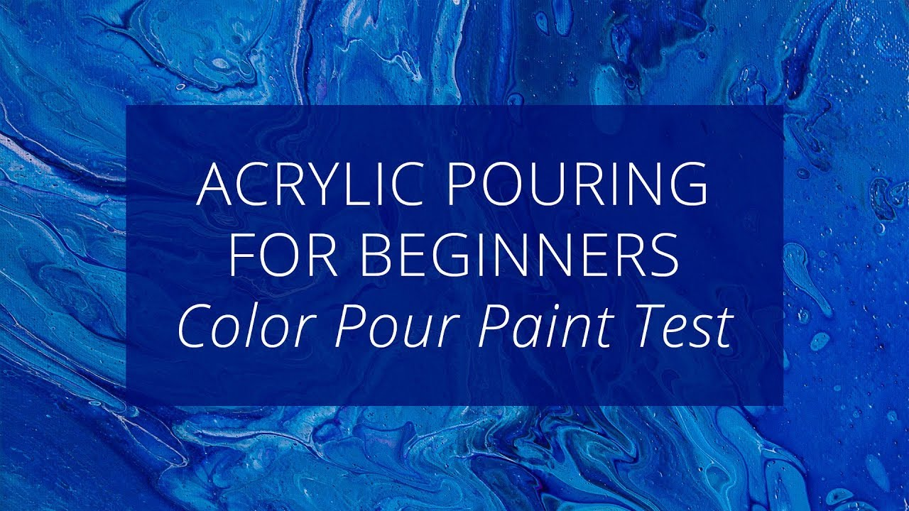 Acrylic Pouring For Beginners American Crafts Color Pour Paints Youtube