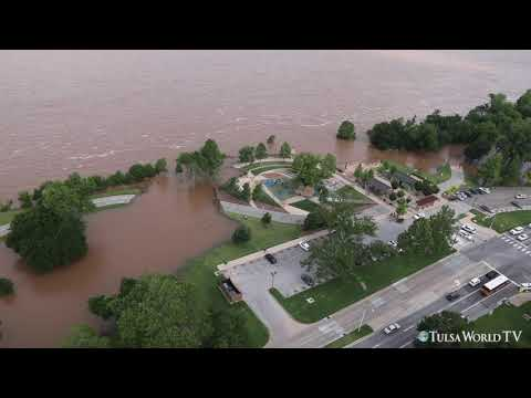 Tulsa Flooding: Aerial Flood Coverage Along The Arkansas River, Broken Arrow, Owasso, Sand Springs