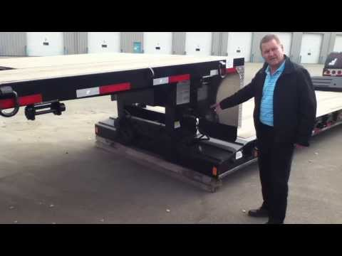Fontaine LX40C Double Drop Trailer at Ocean Trailer Edmonton