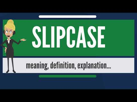 What is SLIPCASE? What does SLIPCASE mean? SLIPCASE meaning, definition & explanation