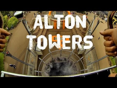 A Day at Alton Towers - GoPro Hero3 HD - Oblivion - Nemesis - Air - Onboard POV
