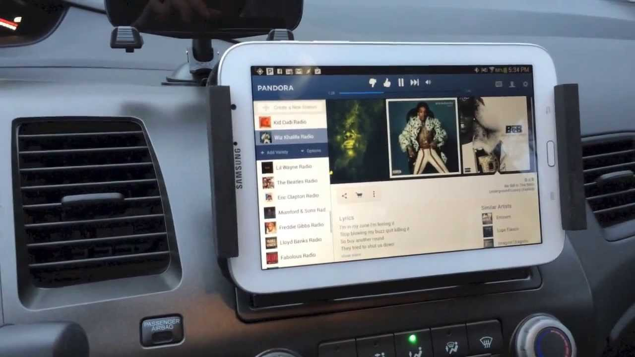 Tablet In Honda Civic Si Youtube