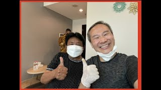 """Chris Leong Absula Rasyid suffering from stiff neck & shoulder(""""Kaku"""")  re-aligned by Chris Leong."""