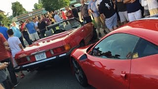 Lady in a Benz CRASHES on to a Ferrari 458 Speciale!!