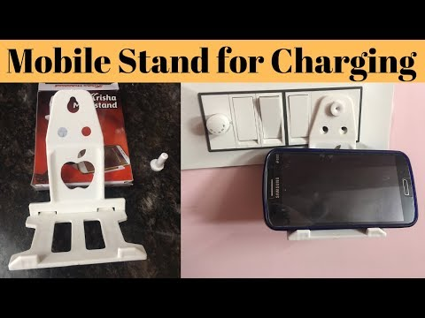 foldable-phone-charging-holder,-mobile-wall-charging-stand,-hanging-mobile-stand-unboxing