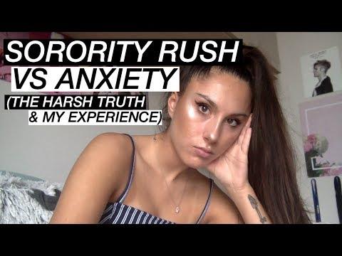SORORITY RUSH VS ANXIETY (THE HARSH TRUTH & MY EXPERIENCE)