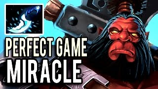 Perfect Axe Game with 21 Kills by Miracle- 9k MMR Destroyer 7.04 Dota 2