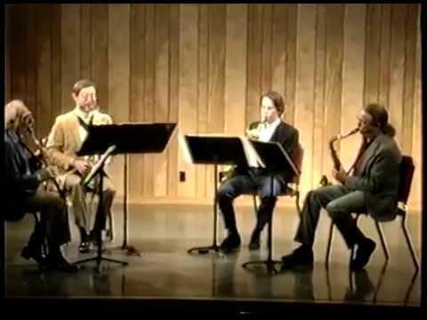 West Coast Sax Quartet LIVE at L.A. Valley College-11-19-1992
