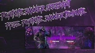 FORTNITE RAVEN BANNER SPEEDART+FREE TEMPLATE!!!