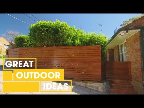How to Build a Timber Fence | Outdoor | Great Home Ideas