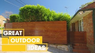 Gambar cover How to Build a Timber Fence | Outdoor | Great Home Ideas