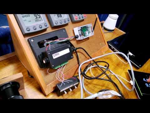 New DMK AEM14 Analog Engine Monitor - Seattle Boat Show