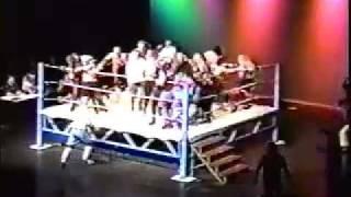 Gambar cover PWI Bunkhouse Battle Royal (WWE Justin Roberts - Ring Announcer)