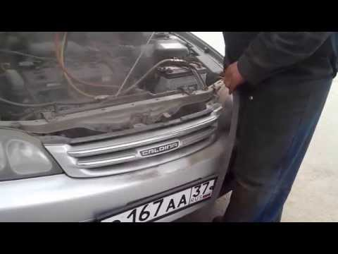 Продувка радиаторов на автомобиле тойота