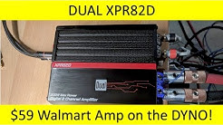$59 Walmart amp! Dual XPR82D Amp Dyno and Unboxing