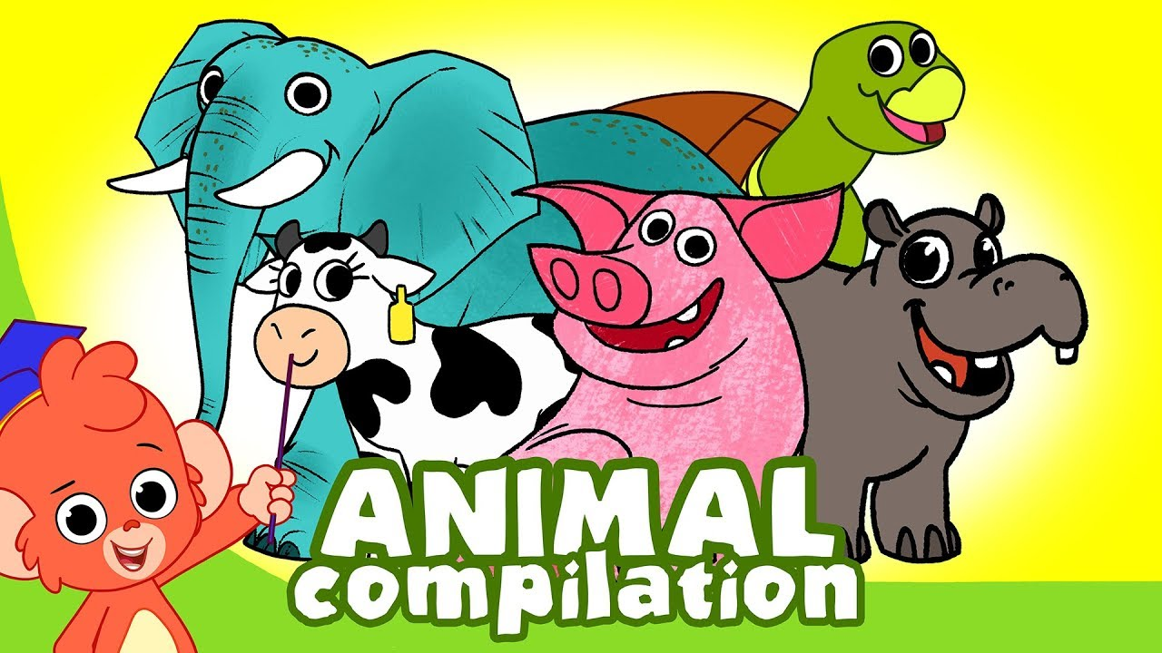 Download Learn Animals for Kids | Animal Cartoon Compilation for Children | Zoo Cartoon Cartoons
