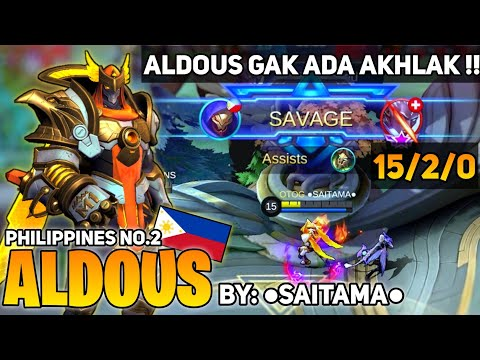 Aldous Epic SAVAGE ! Build Aldous Tersakit 2020 | Top Global Aldous 2020 | By Saitama | MLBB
