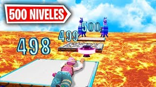 *PARKOUR 500 NIVELES* PARKOUR IMPOSIBLE FORTNITE PARKOUR