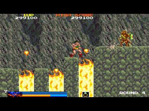 1987 Rastan Arcade Old School Game Playthrough retro game