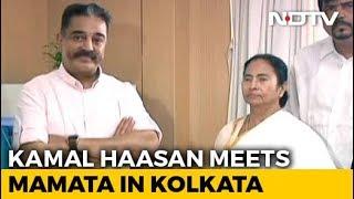 Days Before Polls, Kamal Haasan Meets Mamata Banerjee In Kolkata