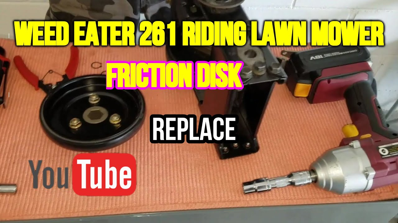 How To Replace Friction Disc On Weed Eater One 261 Riding Lawn Mower Tutorial
