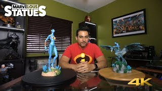 Disney's Pandora AVATAR Neytiri and Jake Sully Riding Banshee Statue REVIEW
