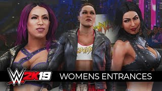 WWE 2K19 - ALL WOMENS ENTRANCES!!