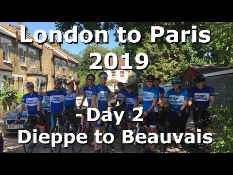London To Paris June 2019 Cycle Ride, Day 2, Dieppe To Beauvais