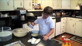 Cooking With Kade, Makes Cracklin Burgers And A Funions Recipe On Cajun Tv Network