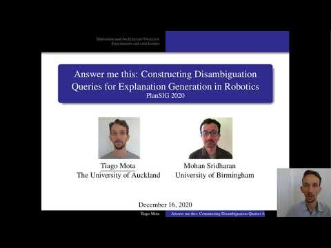 Answer me this: Constructing Disambiguation Queries for Explanation Generation in Robotics
