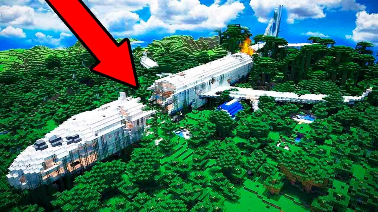 how to make a airplane in minecraft