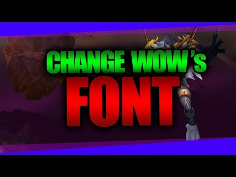 Change Damage Font in WoW