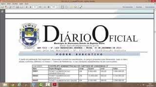 Comprovação em Vídeo de Fraude no Diário Oficial de Marataízes Maratimba.com